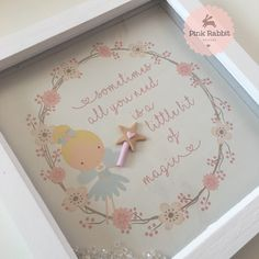 Sometimes we all need a bit of magic - this fairy frame is so shiny and we love them