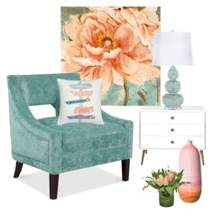 """""""Tranquil Spaces"""" by aquadecorator ❤ liked on Polyvore featuring interior, interiors, interior design, home, home decor, interior decorating, Nordstrom, Elyse Graham and The French Bee"""