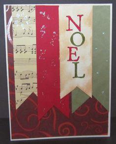 Leftover scraps put together for a banner Christmas card.