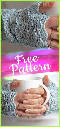 Beautiful Fingerless Gloves Crochet #crochetgloves #crochetpatterns #FingerlessGlove