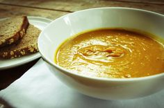 Roasted Pumpkin and White Bean Soup | Head This Way