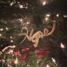 The boys worried that putting word ornaments on our tree  might make everyone think were all writers!  (#partlytrue ) . I think three words pretty much sum up the Christmas season. Love. Peace. And this one Hope. . Wishing all three for you this Christmas season!