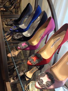 Manolo overload!  The 'Hangisi' jeweled pump has become an icon.  See all the colors here: http://www.saksfifthavenue.com/main/WorldOfDesigner.jsp?FOLDER%3C%3Efolder_id=2534374306571595  Also, you may be eligible for 'Manolo Loves Saks' tote.  #manoloblahnik