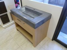 Custom Modern Zen Concrete Bathroom Sink in Cool by Conceptions3D, $1200.00