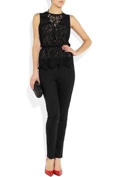 blusa de renda preta - Nina Ricci