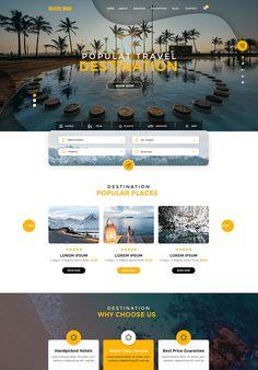 website design template - Famous Last Words Hotel Website Design, Travel Website Design, Website Design Layout, Wordpress Website Design, Web Layout, Website Design Inspiration, Travel Design, Layout Design, Ui Website