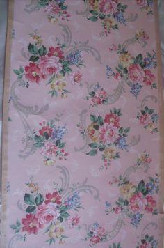 vintage floral roses wallpaper