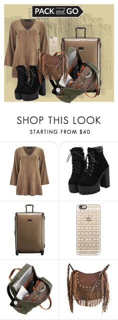 """""""Pack and Go(1)"""" by kryslyn007 ❤ liked on Polyvore featuring MINKPINK, Tumi, Casetify and Liquorish"""