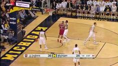 Yogi Ferrell to Troy Williams Alley-Oop Dunk vs. Michigan -- #IUCollegeBasketball