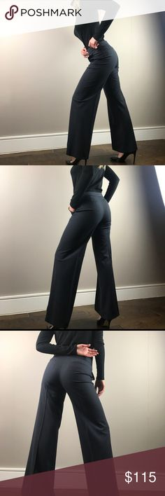 Theory Blue Wide Leg Dress Pant Size 4 👡🤓 Theory Blue Wide Leg Dress Pant.  Size 4.  Like new.    Length: 40 inches Inseam: 31 1/4 inches Waist 13 1/2 inches  No trades please :) Theory Pants Trousers
