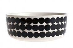 Marimekko Oiva Räsymatto schwarz weiß Schüssel 1,5 l