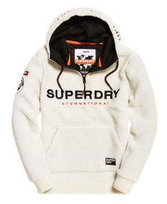 Superdry Mountain Sherpa Half Zip Overhead Hoodie - Men's Hoodies - Swetlana Home Sweat Shirt, Mens Sweatshirts, Men's Hoodies, Hoodies For Men, Trendy Hoodies, Tommy Hilfiger Sweatshirt, Pulls, Swagg, Cool Shirts