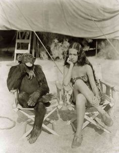 """""""I'll never get into another picture with an animal, so help me!"""" -- Dorothy Lamour.  Bizarre Los Angeles."""