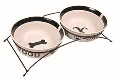 Trixie Eat On Feet Ceramic Bowl Set. 2X2.6 L/Ø 25cm