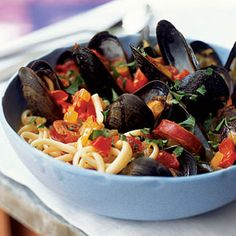 Chorizo-Mussel Noodle Bowl from Cooking Light