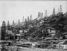 Hillside wells near Titusville PA 1860s