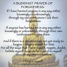 Buddhist Wisdom, Buddhist Teachings, Buddhist Prayer, Buddhist Meditation, Buddhist Quotes, Prayer For Forgiveness, Prayer For Peace, Night Prayer, Spiritual Prayers
