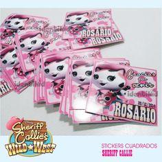 IDENTIKID - Etiquetas autoadhesivas Sheriff Callie circulares- Hacemos tambuén para chocolatines, paraguitas , paletas y todas tus golosinas personalizadas . Seguinos en:  www.facebook.com/identikid