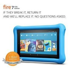 All-New Fire 7 Kids Edition Tablet, Display, 16 GB, Blue Kid-Proof Case.for details and buying visit link Amazon Fire Tablet, Amazon Kindle Fire, Kids Tablet, Tablet 7, Kindle Fire Kids, Character Web, New Tablets, Pbs Kids, Computers