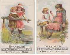 Victorian Trade Card Standard Sewing Machine Co 2 Cleveland Oh C 1880s