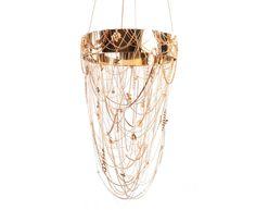 eva menz design chandelier golden safari vintage jewellery brooches polished brass chain