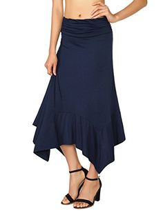 New With Tags Cheap Sales 50% Professional Sale A Size 28 Elasticated Waist Capsule Womens Long Black Skirt
