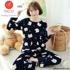 Winter Thick Flannel Pajamas Warm Women Sleepwear Set