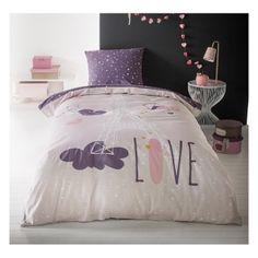 Fialové posteľné obliečky CUTE LOVE Bedroom Bed, Girls Bedroom, Bed Room, Teenage Room, Feng Shui, Comforters, Bed Pillows, Pillow Cases, Room Decor