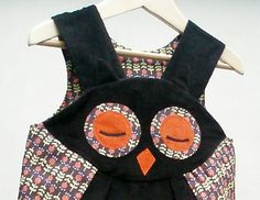 Owl Dress girls babies costume pretend play by wildthingsdresses