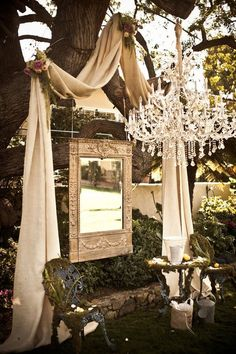 Stunning Patio. Great outdoor Shabby, for gathering.