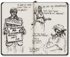 Sketch artist Mike Sheehan brings new perspectives to Southern California Public Radio