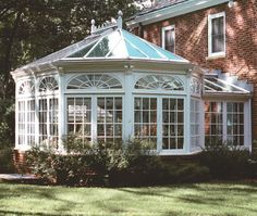 This custom glass conservatory design by Tanglewood Conservatories helps bring new life into a classic estate with this beautiful Victorian conservatory in What Is A Conservatory, Victorian Conservatory, Victorian Greenhouses, Conservatory Design, Conservatory Furniture, Wooden Greenhouses, Greenhouse Attached To House, Best Greenhouse, Greenhouse Plans