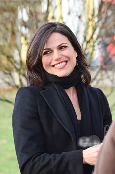 Lana Parrilla on the set of Once Upon a Time  | December 5th 2013