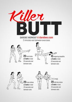 Killer Butt Workout by DAREBEE #darebee #workout #fitness