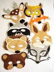 Image result for felt animal masks