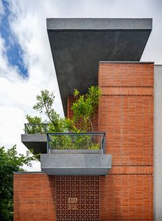 Design Exterior, Brick Design, Facade Design, Concrete Facade, Brick Facade, Facade House, Brick Architecture, House Elevation, Exposed Brick
