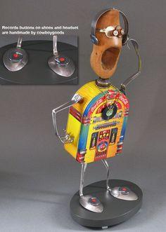 junk robots | ROBOT SCULPTURE Metal sculpture art Junk by CastOfCharacters23 Love ...