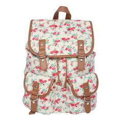 Womens Floral Rucksack ($8.21) ❤ liked on Polyvore featuring bags, backpacks, floral print bag, bohemian bags, bohemian backpack, beach tote bags and floral backpack