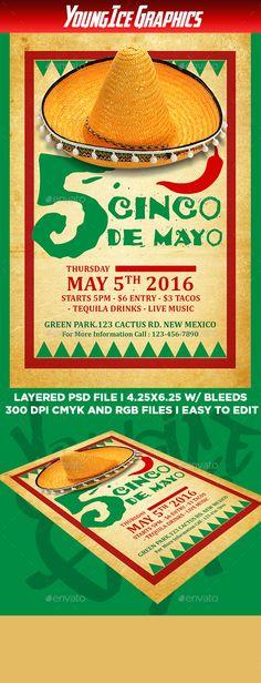Cinco De Mayo Flyer Template PSD. Download here: http://graphicriver.net/item/cinco-de-mayo-flyer-template/15911308?ref=ksioks