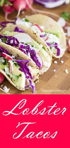 Easy fish tacos made quickly with all natural ingredients perfect lobster tacos via preppykitchen lobster tacosseafood dishesseafood forumfinder Image collections