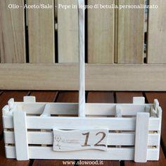 Portacondimenti - Olio&Aceto/Sale&Pepe. Personalizzabili su richiesta del cliente.