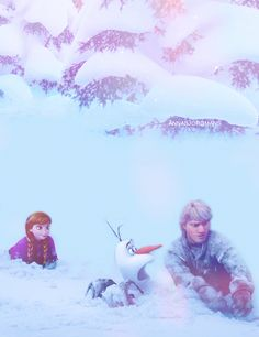 Frozen~Anna , kristoff and Olaf