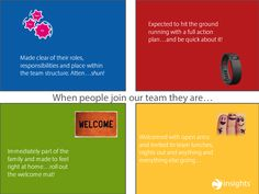 When people join your team, what kind of welcome can they expect? Are you, as a team, taking care to welcome them in their own way, or are they given the baptism of fire of your team's dominant colour energy?