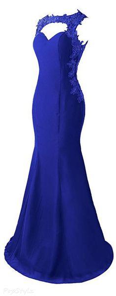 Lace Appliques Evening Gown