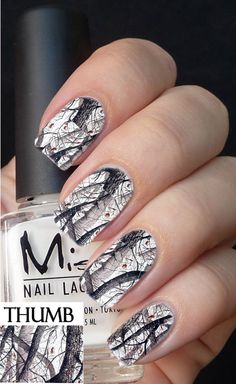 Snow Camo Nail Decals browning