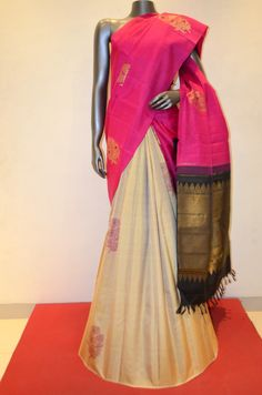 Pink and Cream Special Patli Kanjeevaram Silk Saree Product Code: AB210873 Online Shopping: http://www.janardhanasilk.com/index.php?route=product/product&search=AB210873&description=true&product_id=3708