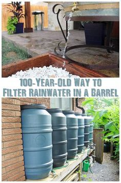 100-Year-Old Way to Filter Rainwater in a Barrel - If you want filtered water…
