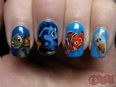 SUPER CUTE Nemo nails!!!!
