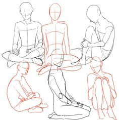 how to draw someone sitting criss cross - Google Search