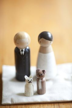 Cake topper including the pets :) @Christina Smith, this is very you.